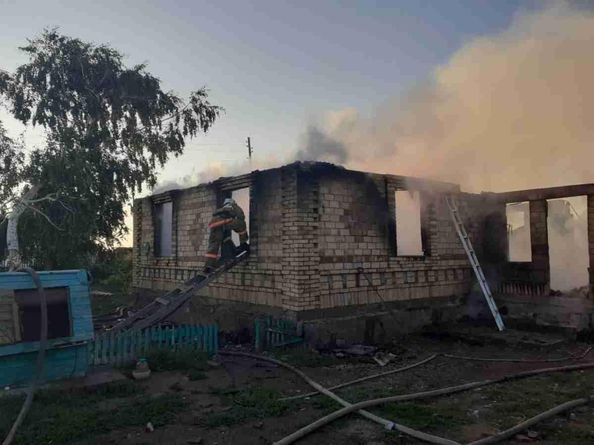 Пожар в Акмолинской области забрал жизни трех детей