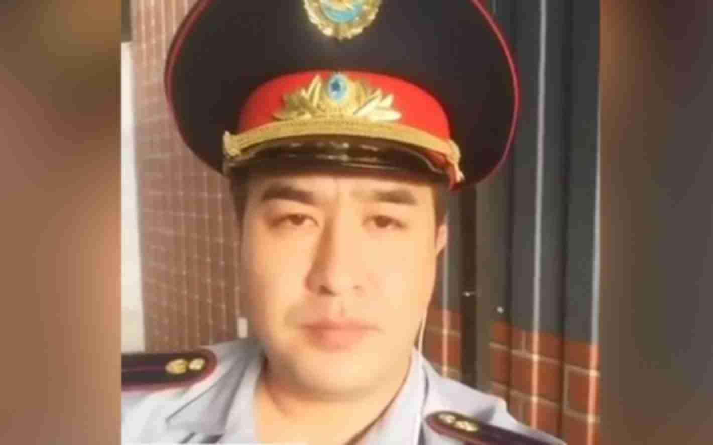 В Алмате неизвестный в полицейской форме записал скандальное видео