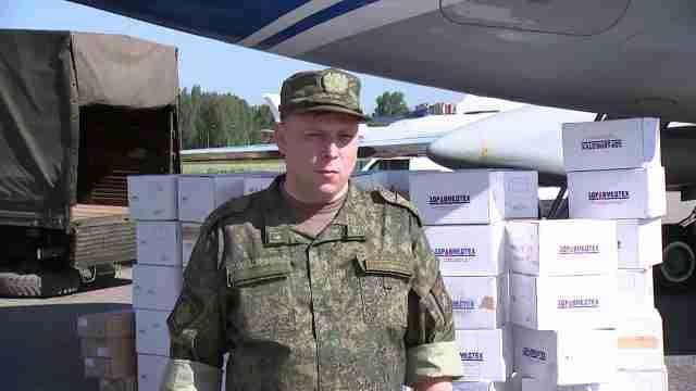 Российские военные медики начали гуманитарную миссию в Казахстане