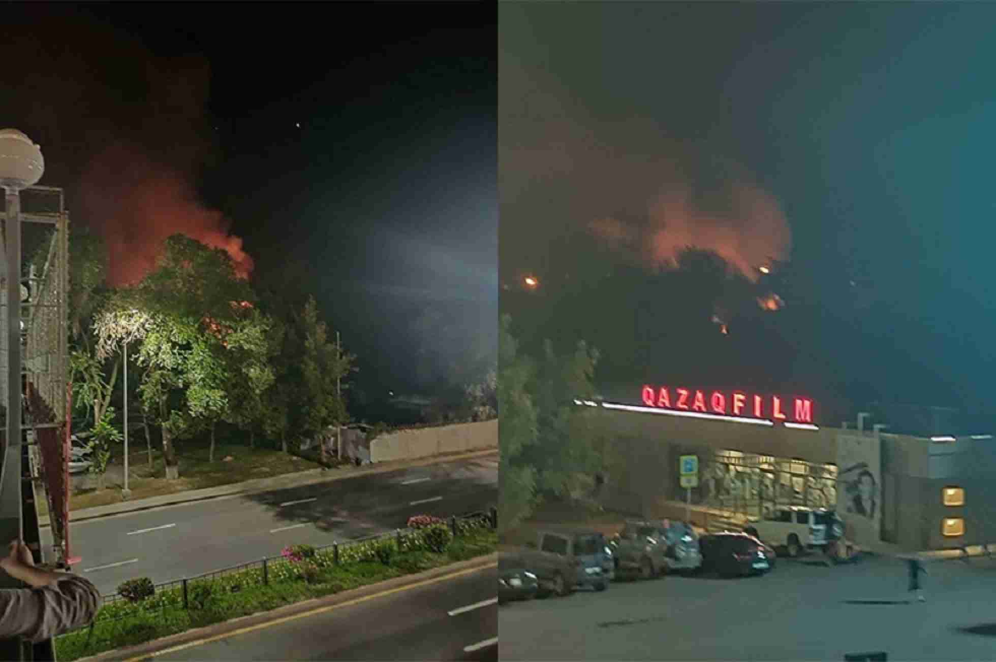 Пожар на Казахфильме: подсчитан ущерб