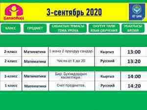 Телеуроки в Казахстане: расписание на 3 сентября